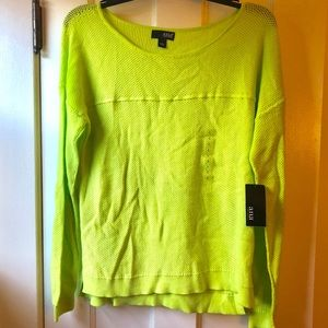 Lime Green Sweater - NWT